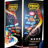 Sistem afisare roll-up www.indigoneon.ro